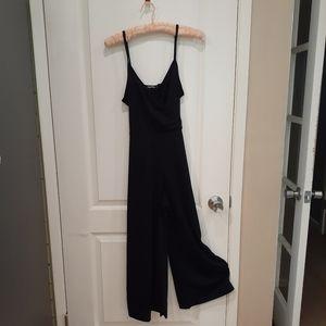 Sexy low cut black jumpsuit